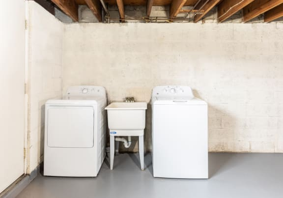 Washer and dryer is in every home at Foxridge Townhomes