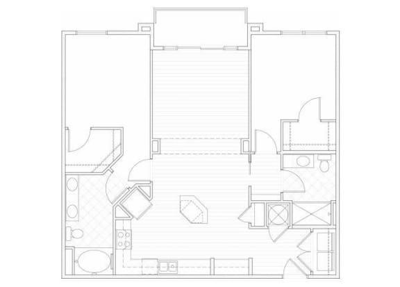 Floor Plan  Two bedroom two bathroom B3 floorplan at 1160 Hammond Apartments in Sandy Springs, GA