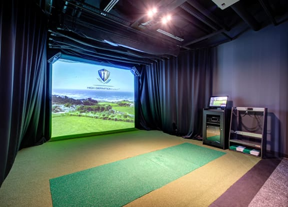 Pro-Grade Golf Simulator at 640 North Wells, Chicago, Illinois