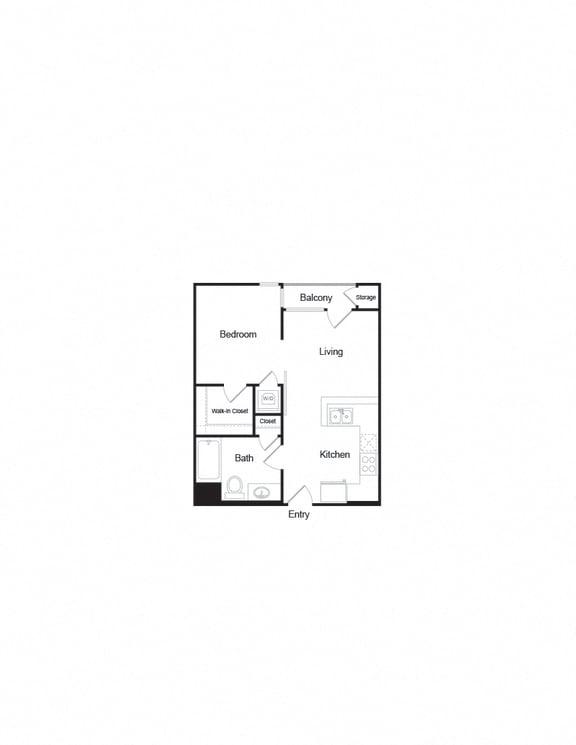 A2a 1B1B FloorPlan