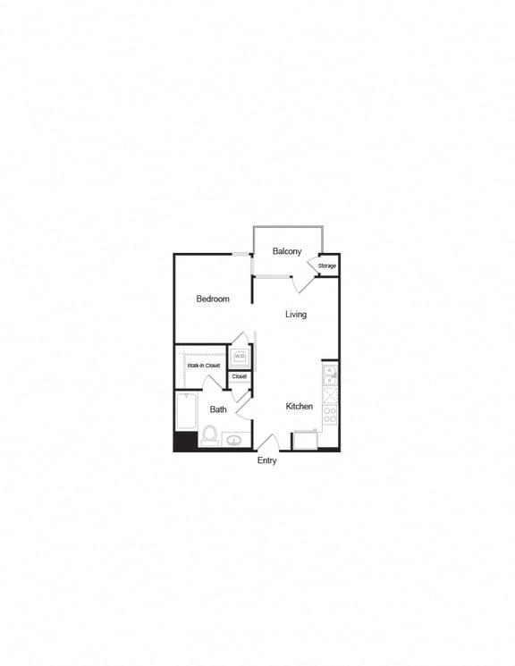 A2b 1B1B FloorPlan