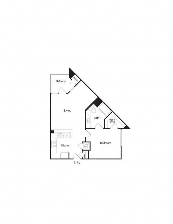 A7 1B1B FloorPlan corner unit in brentwood california