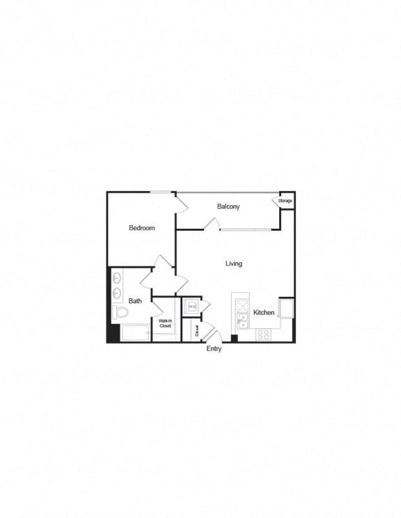 A8 a-b 1B1B 741Sqft FloorPlan floor plan layout in brentwood