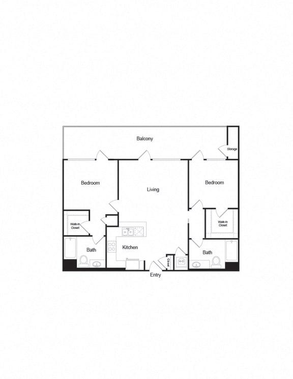 B2_2b2b_1083sf apartment unit in brentwood california