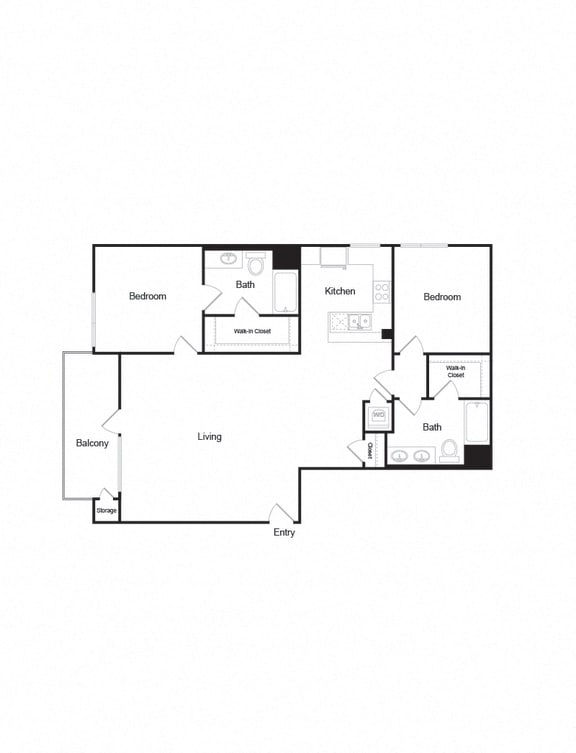 B5_2b2b_1302sf apartment unit in brentwood