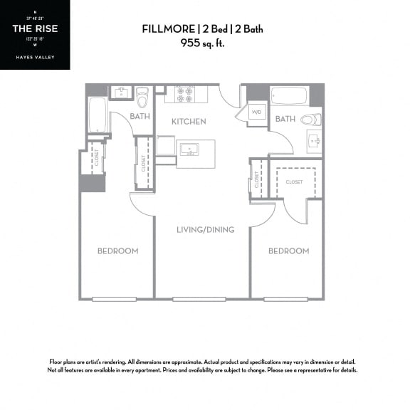 Floor Plan  The Rise Hayes Valley|Fillmore|2x2