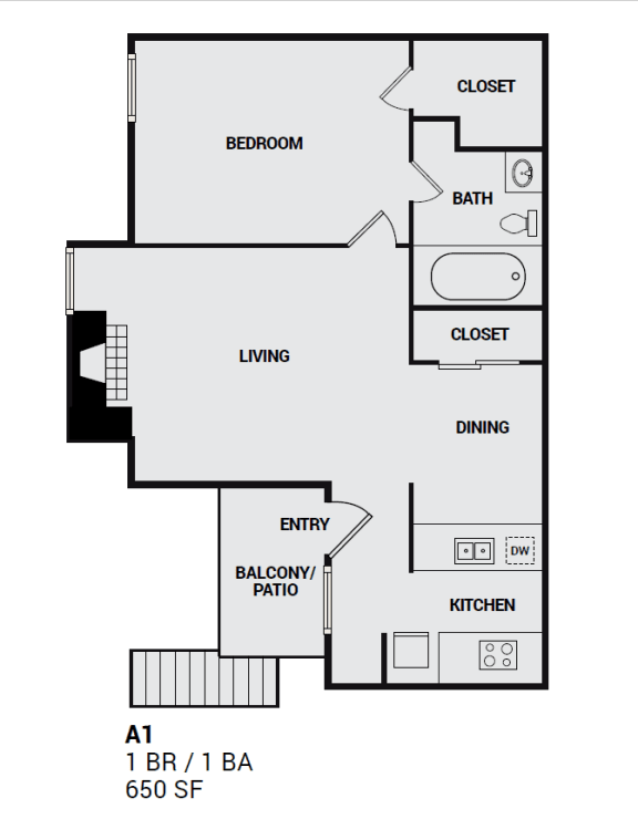 A1 Independence floor plan illustration for plano texas