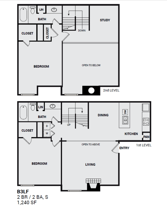 B3LF Townbluff for illustrated floor plan