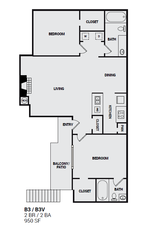 B3V Independence floor plan layout in plano texas