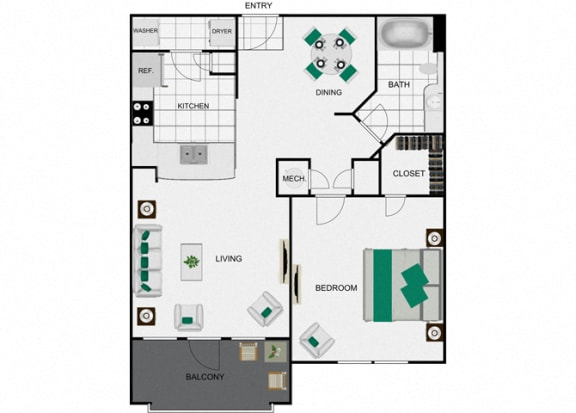 Floor Plan  A2_2 Floorplan for arlo westchase
