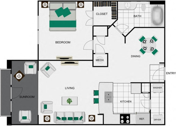 A6d_2 Floorplan for apartments in houston texas