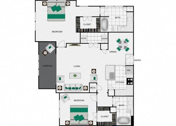 Floor Plan  B8c Floorplan for arlo westchase