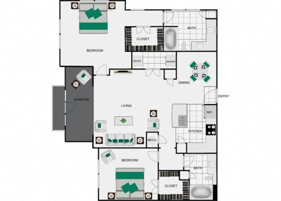 Floor Plan  B8d Floorplan for arlo westchase
