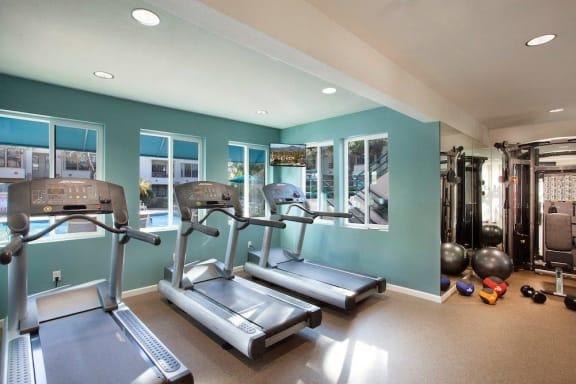Cardio Machines In Gym at Cypress Point, Ventura, CA