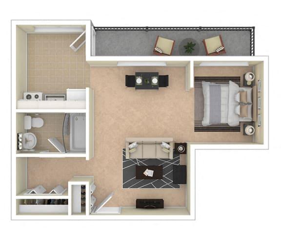 2112 New Hampshire Ave Apts Studio 535 sq ft floor plan