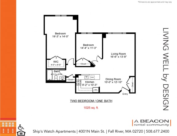 Two bedroom apartment in Fall River, MA