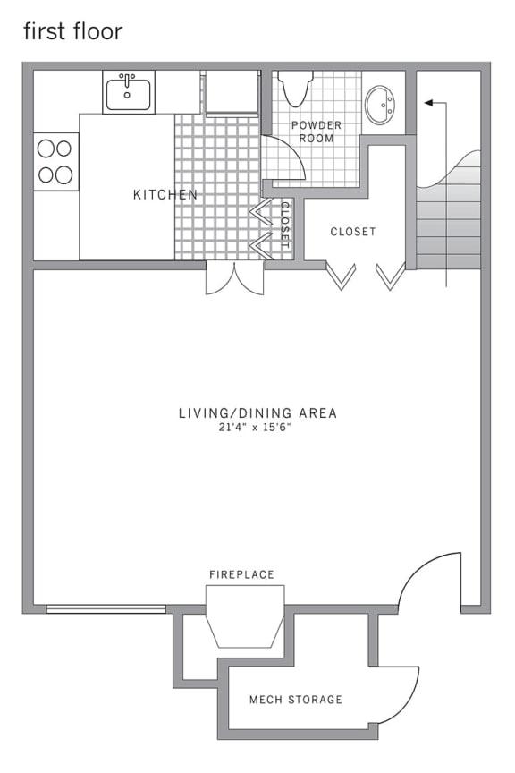 Floor Plan  B1 Floor Plan at Blue Bell Villas, Blue Bell, Pennsylvania