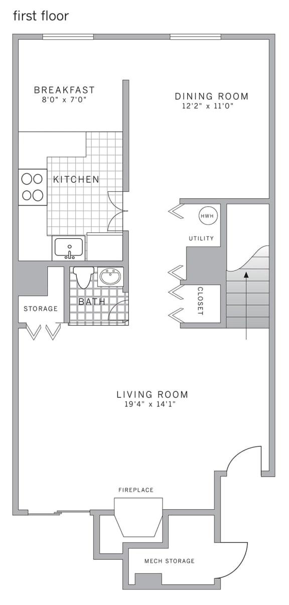 Floor Plan  C2 Deluxe Floor Plan at Blue Bell Villas, Blue Bell, PA, 19422
