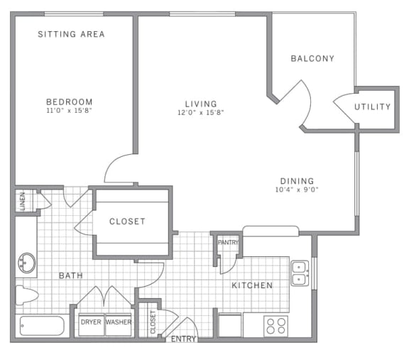 A3 Floor Plan at AVE Somerset, Somerset