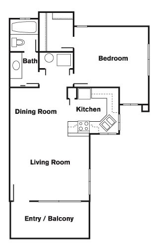 1 Bed 1 Bath A Floor Plan at Elevate at Discovery Park, Tempe, 85283