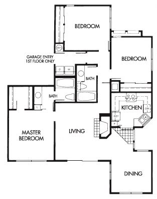 3 Bed 2 Bath A Floor Plan at Elevate at Discovery Park, Arizona, 85283