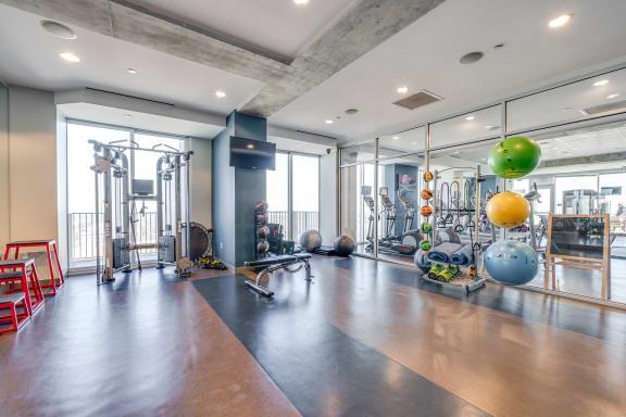 skyhouse fitness center aerobics area