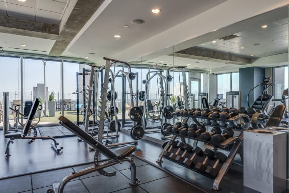 skyhouse fitness center free weights