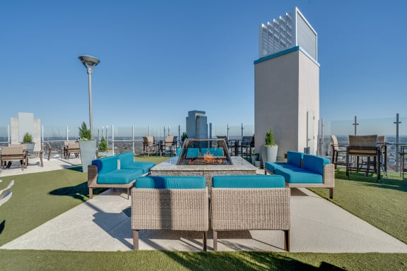 skyhouse rooftop terrace firepit daytime