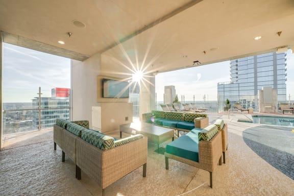 skyhouse rooftop poolside lounge