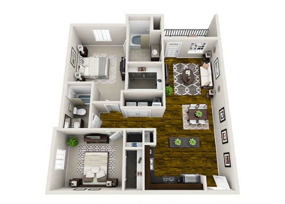 Palisade 2 Bedroom Floor Plan