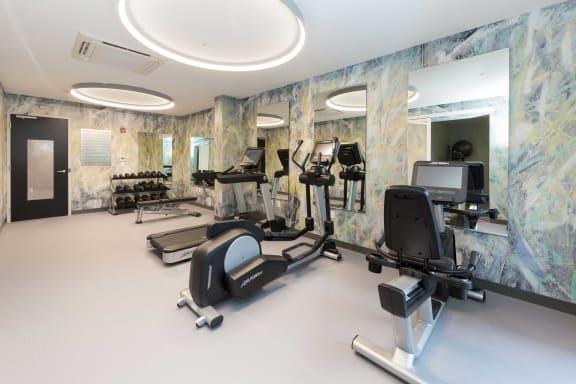 Fitness Center With Modern Equipment at 28 Austin, Massachusetts, 02460