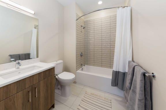 Bathroom With Bathtub at 28 Austin, Newton