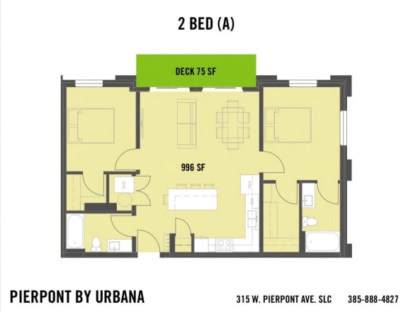 Floor Plan  2 BED (A)