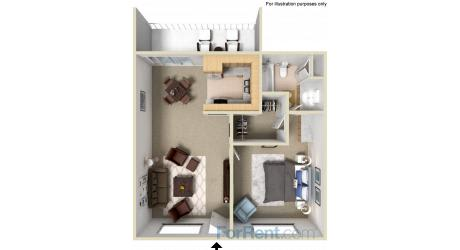 Floor Plan  Point Bonita Apartment Homes - 1 Bedroom 1 Bath Apartment