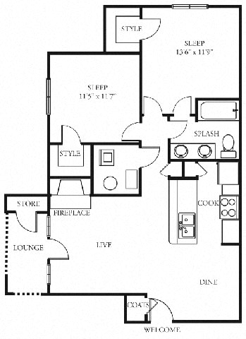 Cottage 2 bedroom 1 bath the addison at sandy springs apartment homes ga