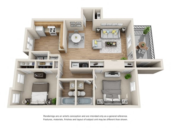 Floor Plan  Addison at Sandy Springs_Cape
