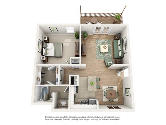 The Brookwood Apartment Homes - 1 Bedroom 1 Bath Apartment