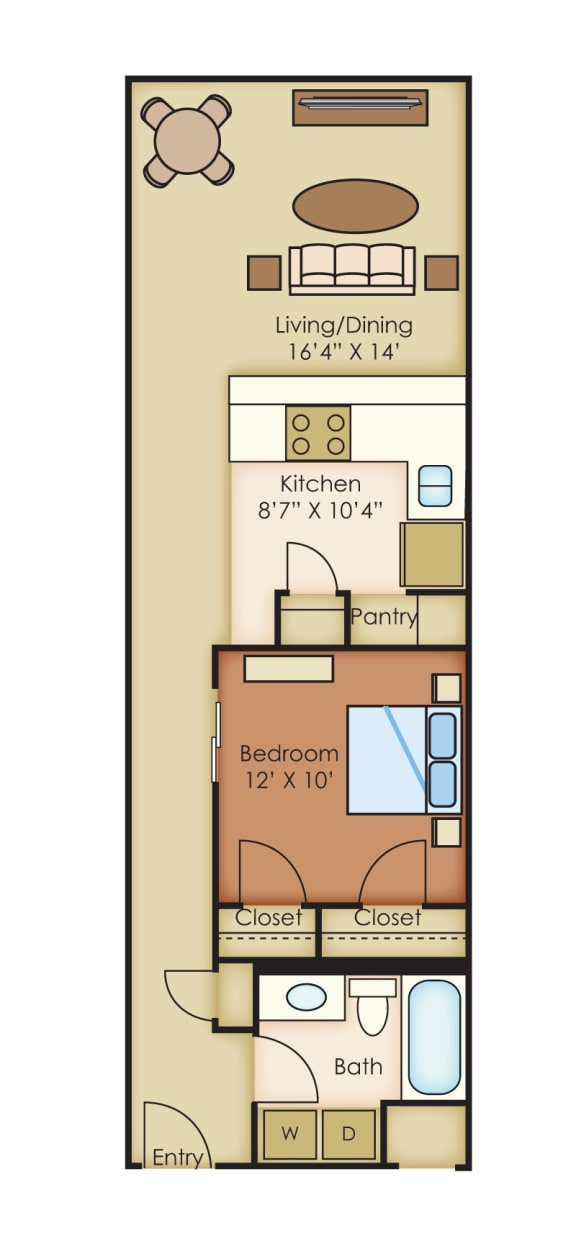 The Cannery Lofts Apartment Homes 1 Bedroom 1 Bath