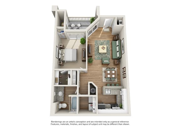 Verdant Apartment Homes - 1 Bedroom 1 Bath Apartment