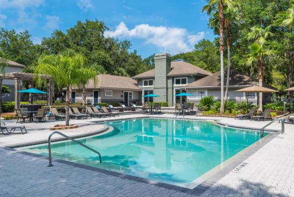 Invigorating Swimming Pool at Bay Club Apartments, Jacksonville, Florida