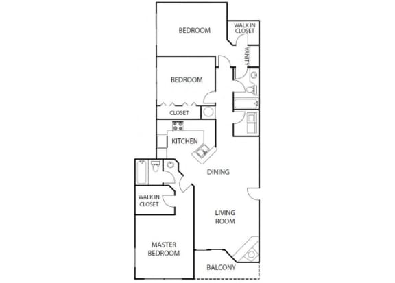 indigo 3 bedroom 2 bath bay club apartment homes jacksonville florida