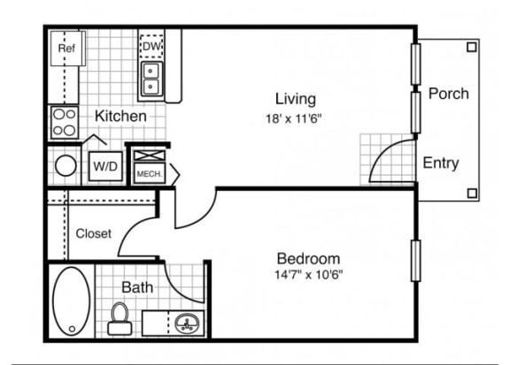 A1 - One Bedroom  One Bath
