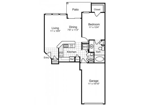 A3 - One Bedroom One Bath