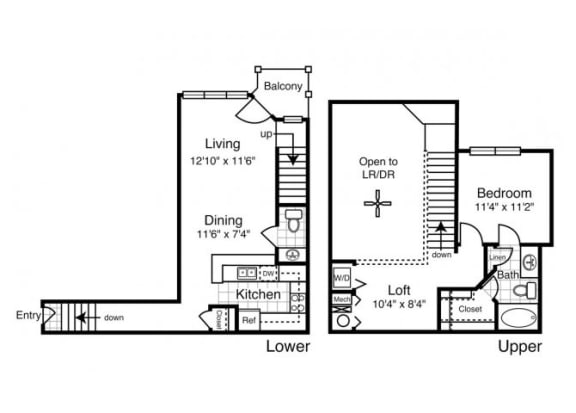 A5 - One Bedroom One and a Half Bath