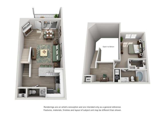 Grand Reserve of Naperville Apartment Homes 1 Bedroom 1.5 Bath