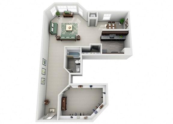 Meridian Pointe Apartment Homes - Studio 1 Bath Apartment