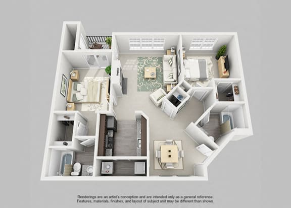 Perimeter 5550 Apartment Homes - 2 Bedroom 2 Bath Apartment