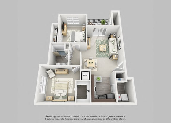 Perimeter 5550 Apartment Homes - 2 Bedroom 1 Bath Apartment
