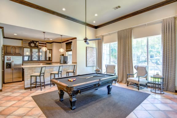 apartments with a billards table in frisco tx