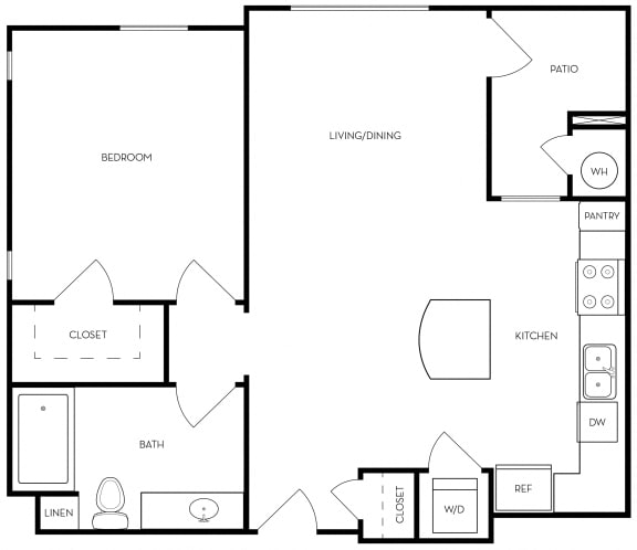 Floor Plan  A4 Floor Plan at Metro Gateway, Riverside, CA
